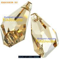 Swarovski Polygon Drop Pendant 17 мм Crystal Golden Shadow