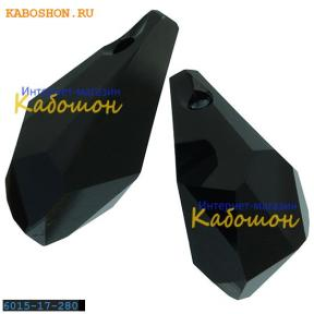 Swarovski Polygon Drop Pendant 17 мм Jet