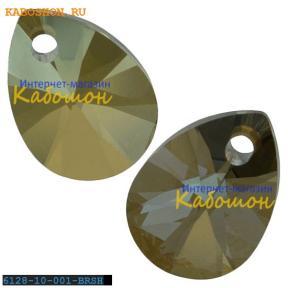 Swarovski Xilion Mini Pear Pendant 10 мм Crystal Bronze Shade