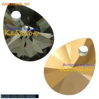 Swarovski Xilion Mini Pear Pendant 10 мм Crystal Rose Gold