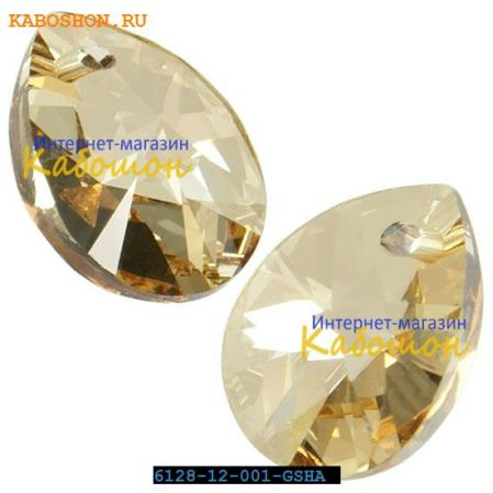 Swarovski Xilion Mini Pear Pendant 10 мм Crystal Golden Shadow
