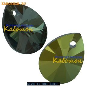 Swarovski Xilion Mini Pear Pendant 10 мм Crystal Iridescent Green