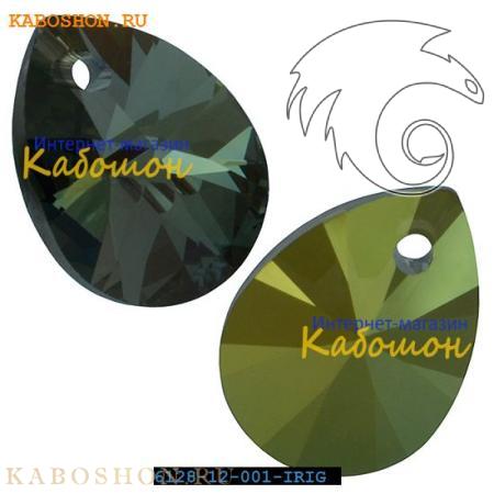 Подвеска-кристалл Swarovski (Сваровски) Xilion Mini Pear Pendant 10 мм Crystal Iridescent Gree