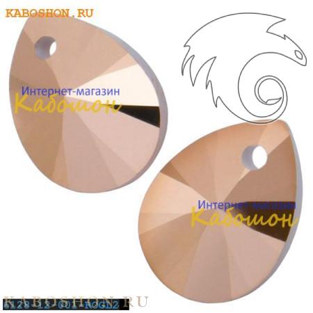 Подвеска-кристалл Swarovski (Сваровски) Xilion Mini Pendant 12 мм Crystal Rose Gold 2x