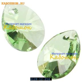 Swarovski Xilion Mini Pear Pendant 10 мм Peridot