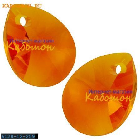 Swarovski Xilion Mini Pear Pendant 10 мм Tangerine