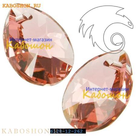 Подвеска-кристалл Swarovski (Сваровски) Xilion Mini Pear Pendant 10 мм Rose Peach