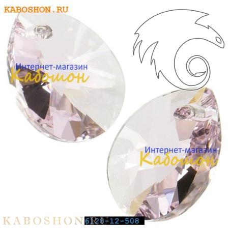 Подвеска-кристалл Swarovski (Сваровски) Xilion Mini Pear Pendant 10 мм Rosaline