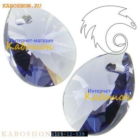 Подвеска-кристалл Swarovski (Сваровски) Xilion Mini Pear Pendant 10 мм Tanzanite