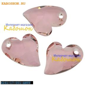 Swarovski Devoted 2 U Heart 17 мм Crystal Antique Pink