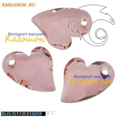 Подвеска-кристалл Swarovski (Сваровски) Devoted 2 U Heart 17 мм Crystal Antique Pink