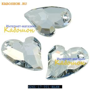 Swarovski Devoted 2 U Heart 17 мм Crystal Blue Shade