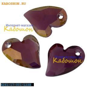 Swarovski Devoted 2 U Heart 17 мм Crystal Lilac Shadow