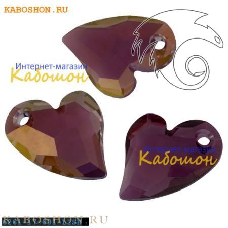 Подвеска-кристалл Swarovski (Сваровски) Devoted 2 U Heart 17 мм Crystal Lilac Shadow
