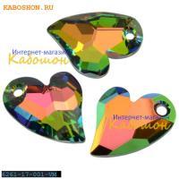 Swarovski Devoted 2 U Heart 17 мм Crystal Vitrail Medium
