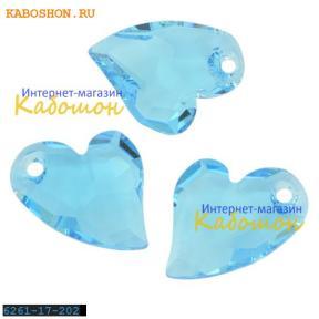 Swarovski Devoted 2 U Heart 17 мм Aquamarine