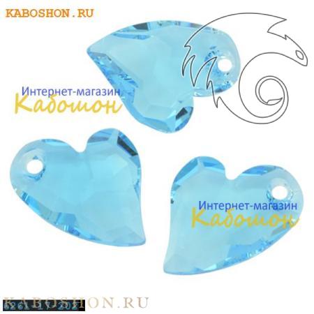 Подвеска-кристалл Swarovski (Сваровски) Devoted 2 U Heart 17 мм Aquamarine