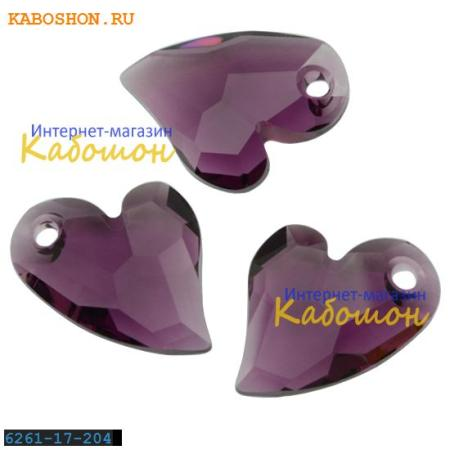 Подвеска-кристалл Swarovski (Сваровски) Devoted 2 U Heart 17 мм Amethyst