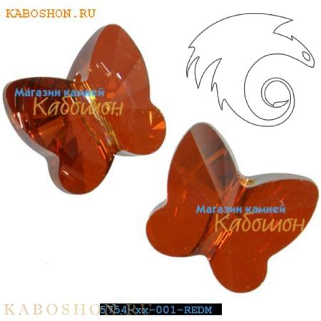 Swarovski Butterfly Bead 10 мм Crystal Red Magma 5754-10-001-REDM
