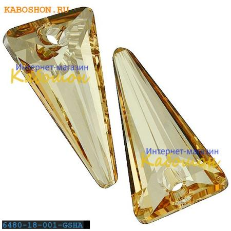 Подвеска-кристалл Swarovski (Сваровски) Spike Pendant 18 мм Crystal Golden Shadow