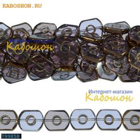 Бусины стеклянные 16х13 мм светло-лиловые