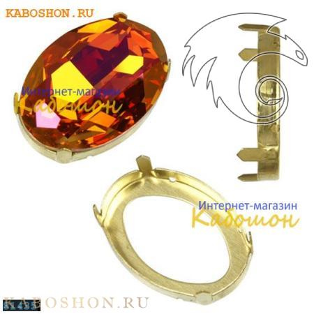 Оправа для Swarovski 4127 Oval Fancy stone 30х22 мм латунь 4127-30-S-81435
