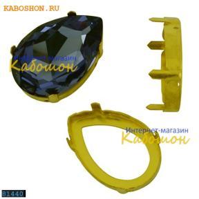 Оправа для Swarovski 4327 Pear Fancy stone 30х20 мм латунь