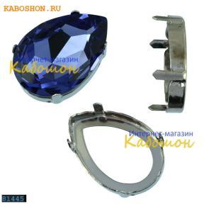Оправа для Swarovski 4327 Pear Fancy stone 30х20 мм родий