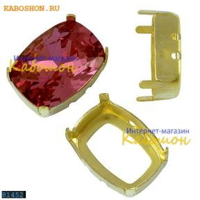 Оправа для Swarovski 4568 Cushion fancy stone 14х10 мм латунь