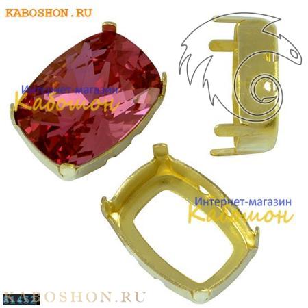 Оправа для кристаллов Swarovski (Сваровски) 4568 Cushion fancy stone 14х10 мм латунь