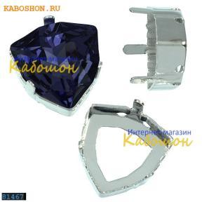 Оправа для Swarovski 4706 Trilliant fancy stone 12 мм родий