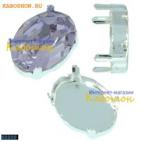 Оправа для Swarovski 4120 Oval Fancy stone 14х10 мм посеребрен.