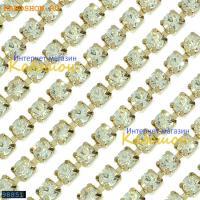 Цепь со стразами 3 мм Crystal-Gold