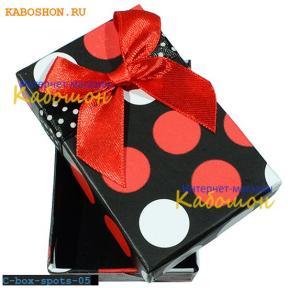 Подарочная коробочка 75х46х23 мм (красный принт)
