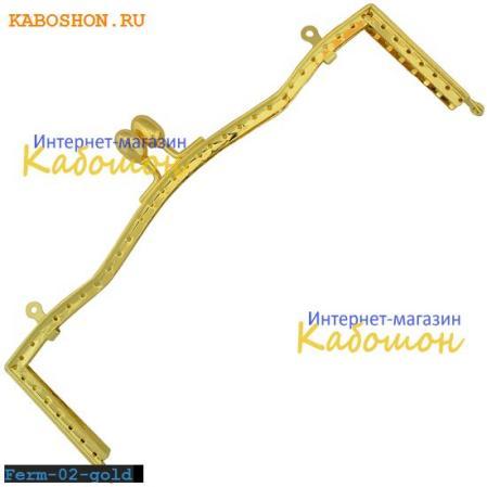 Фермуар прямоугольный 205х105 мм золото