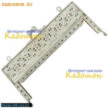 Фермуар прямоугольный 125х65 мм серебро