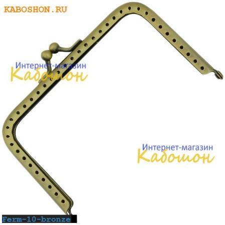 Фермуар прямоугольный 110х65 мм бронза