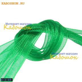 Лента капроновая 3 мм ярко-зеленая