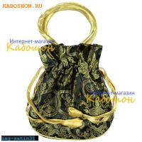 Подарочная сумочка сатин 22х20 см черная