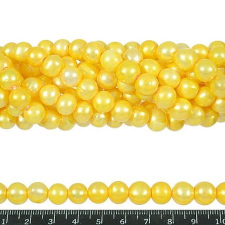 Жемчуг желтый 10-11 мм (1 шт)