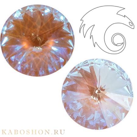Кристалл Swarovski Rivoli (Риволи сваровски) 12 мм Crystal Cappuccino DeLite