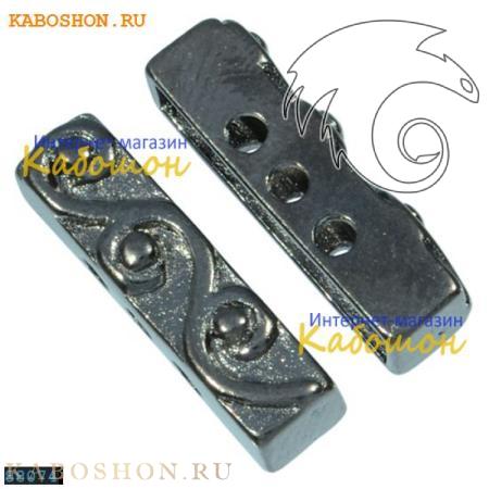Разделитель на 3 нити прямоугольный 18х5 мм черный никель