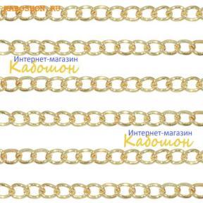 Цепочка 6х4,5 мм античное золото (25 см)