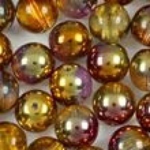 Круглые чешские бусины размером от 2 до 8 мм