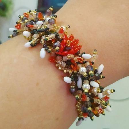 "Мастер-класс ""Плетеный браслет"" от Rinabead"