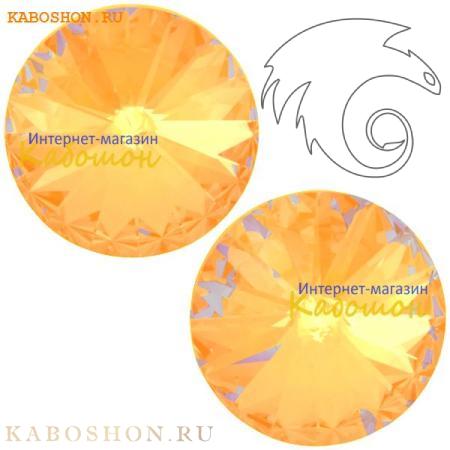Кристалл Swarovski Rivoli (Риволи сваровски) 12 мм Crystal Peach DeLite