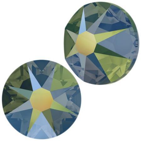 Swarovski Xirius Rose (no HF) ss30 Crystal Iridescent Green
