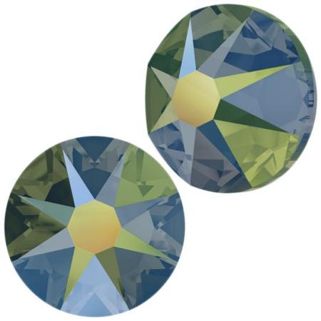Кристалл Swarovski (Сваровски) Xirius Rose (no HF) ss30 Crystal Iridescent Green