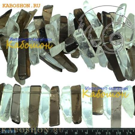 Бусины из натурального камня - Раухтопаз 25-60 мм