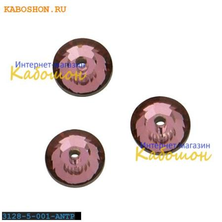 Swarovski Xilion Lochrose 5 мм Crystal Antique Pink